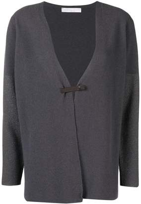 Fabiana Filippi draped fitted cardigan