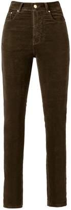Amapô high waist velvet skinny trousers