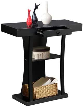 Yaheetech 3 Tier Console Table with Drawers & Collection Shelf Hallway Entryway Furniture Black
