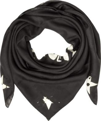 Givenchy Black Wool and Silk Signature Wrap