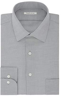 Van Heusen Mens Dress Shirts Regular Fit Micro Houndstooth Spread Collar