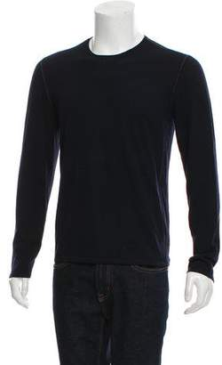 John Varvatos Woven Crew Neck Sweater