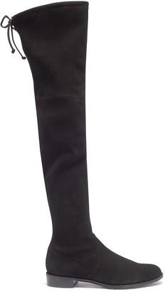 Stuart Weitzman 'Lowland' stretch suede thigh high boots