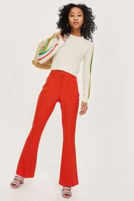 Topshop Slim flared trousers