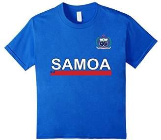 Samoa Sport Style Flag & Crest T-shirt
