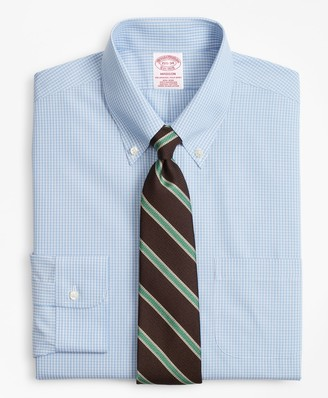 Brooks Brothers Madison Classic-Fit Dress Shirt, Non-Iron Sidewheeler Gingham