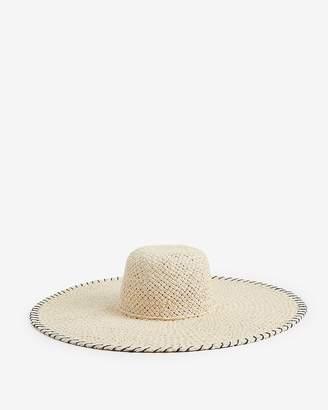 9eaeb89da4b Express Oversized Whipstitch Floppy Hat