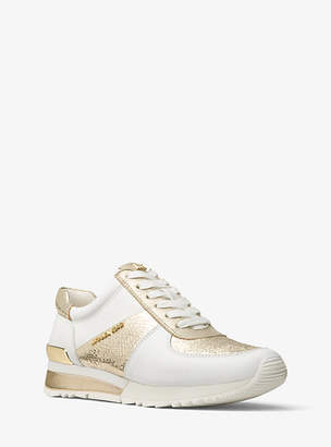 Michael Kors Allie Metallic Leather Sneaker