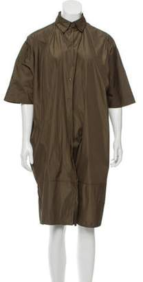 Acne Studios Point Collar Shift Dress Olive Point Collar Shift Dress