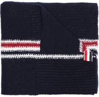 Thom Browne Navy wool striped scarf