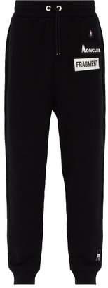 Moncler 7 Fragment - Logo Patch Cotton Track Pants - Mens - Black