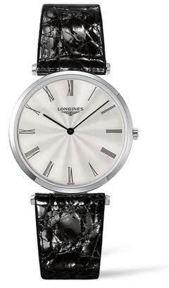 Longines La Grande Classique de Leather Strap Watch, 34mm