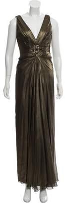 Roland Nivelais Silk Metallic Dress gold Roland Nivelais Silk Metallic Dress