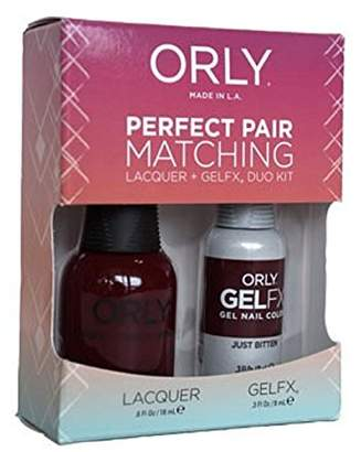Orly Just Bitten Perfect Pair Matching Lacquer Plus Gelfx Duo Kit