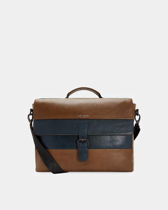Ted Baker BOCELLI Striped leather messenger bag