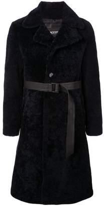 Neil Barrett single-breasted shearling jacket