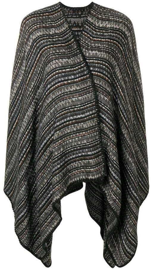 poncho cardigan-coat