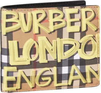 Burberry Graffiti Bifold Wallet