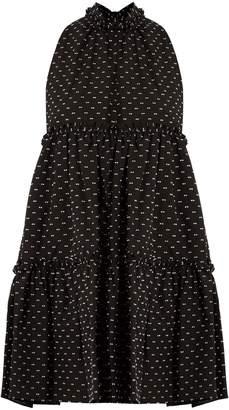 Lisa Marie Fernandez Mini ruffle-trimmed cotton dress