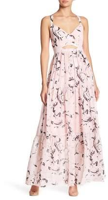 Rachel Roy Sleeveless Tiered Maxi Dress
