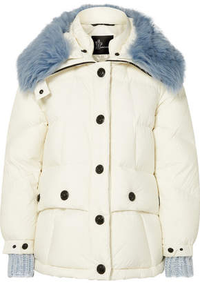Moncler Carezza Shearling-trimmed Quilted Down Jacket