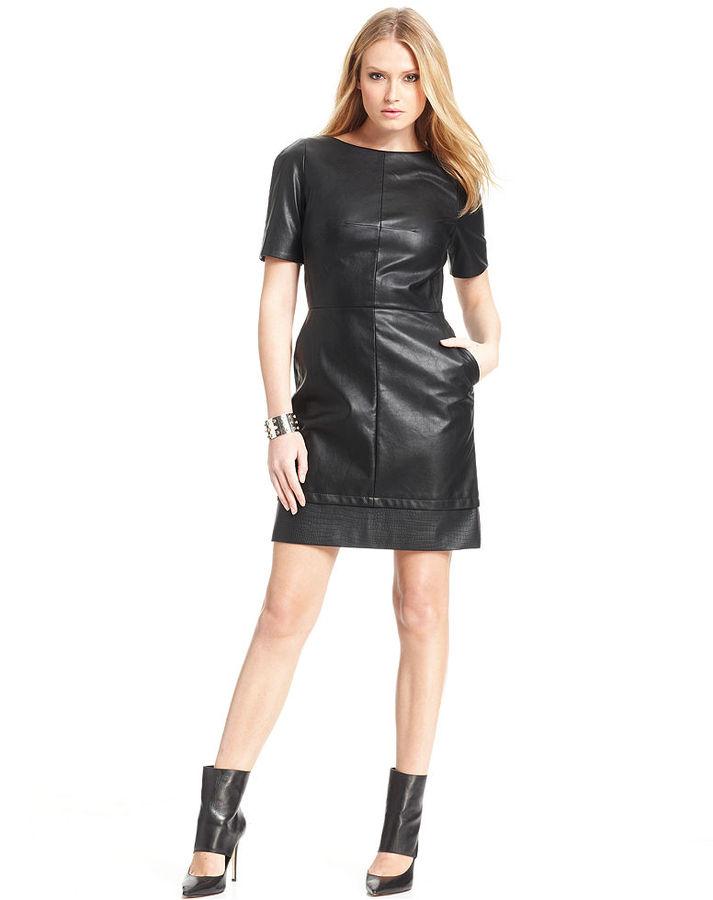 Walter W118 by Baker Annika Faux-Leather Dress