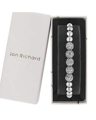 Jon Richard Silver Ball Toggle Bracelet