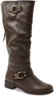 XOXO Minkler Wide Calf Riding Boots Women Shoes