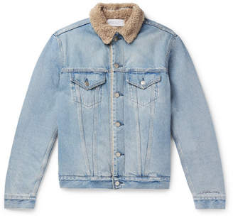 John Elliott Faux Shearling-Lined Denim Jacket