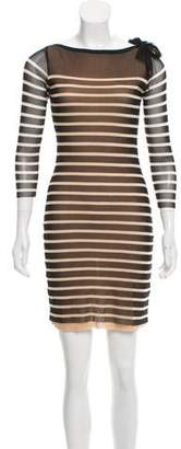 Jean Paul Gaultier Soleil Striped Mini Dress