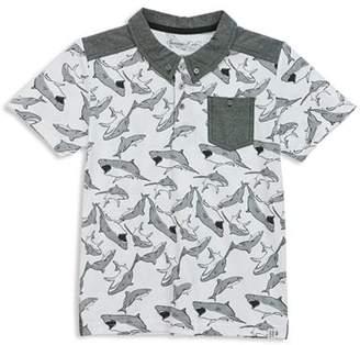 Sovereign Code Boys' Shark-Print Pocket Polo - Little Kid, Big Kid