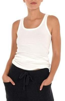 Paper Label Quietude Mara Ribbed Stretch-Cotton Tank Top