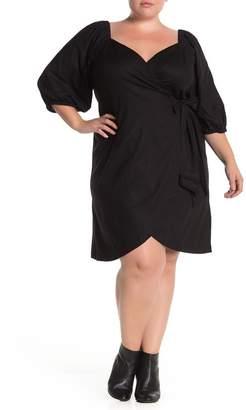 ELOQUII Optional Off-The-Shoulder Wrap Dress (Plus Size)