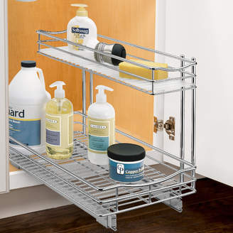 Lynk Roll Out Under Sink Cabinet Organizer - Pull Out Two Tier Sliding Shelf - 11.5 in. wide x 21 inch deep - Chrome