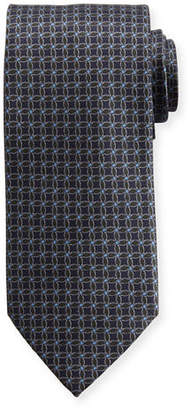 Brioni Interlocked-Circle Printed Silk Tie
