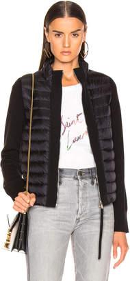 Moncler Zip Cardigan in Black | FWRD