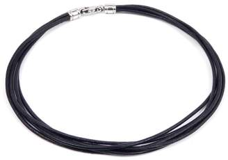 Bulgari Leather and Stainless Steel Choker Necklace