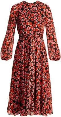Giambattista Valli Petal-print silk-georgette dress