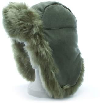 f582c860d24 Charlotte Simone Helmet Head Khaki Faux Fur Trapper Hat