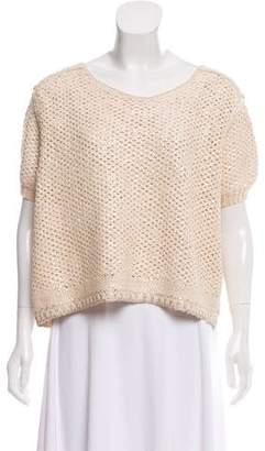 Sonia Rykiel Coated Short Sleeve Sweater