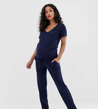 Mama Licious Mama.Licious Mamalicious maternity rib jersey jumpsuit