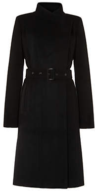 Phase Eight Darby Wrap Coat, Black