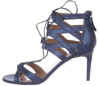 Aquazzura Leather Caged Sandals