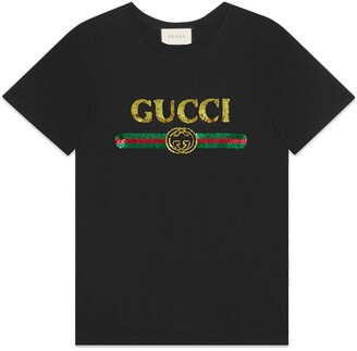 Gucci Oversize T-shirt with sequin logo