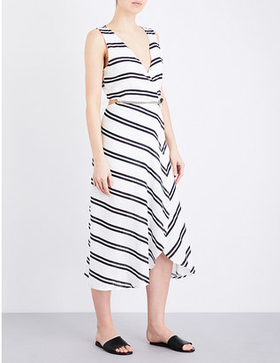 Vix Cutout-detail linen-blend dress $290 thestylecure.com