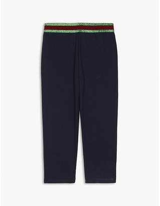 Gucci Metallic Web striped cotton leggings 3-36 months