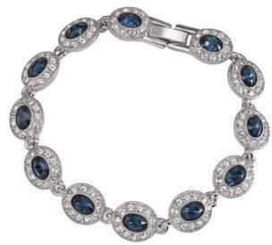 Carolee Simply Blue Oval Stone Pave Bracelet