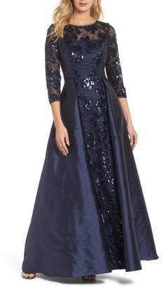 Adrianna Papell Sequin Taffeta Gown