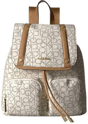 Calvin Klein Key Item Monogram Backpack Backpack Bags