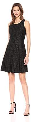 Tommy Hilfiger Women's Floral Outline Lace Fit and Flare Dress